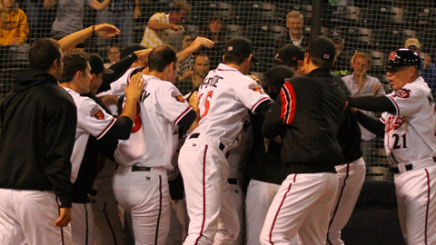 Juan Perez hit the fourth walkoff home run in franchise history Friday night.