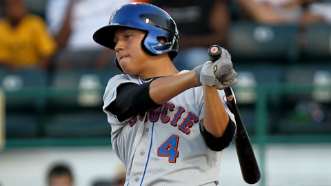Wilmer Flores is among the league leaders in batting, homers and RBIs.