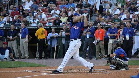 Valentino Pascucci won the home run derby 6-5 in the final round Monday night